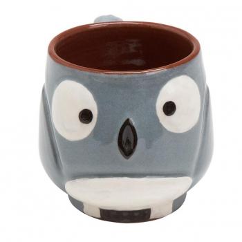 mug hibou gris