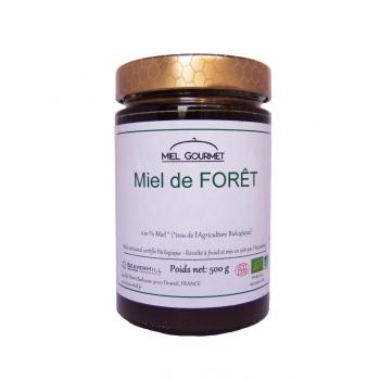 Miel de Forêt Biologique - Récolté à froid, Crémeux - Pot de 500g