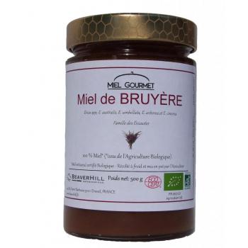Miel de Bruyère Biologique - Récolté à froid, Crémeux - Pot de 500 g