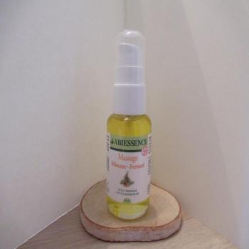 """Huile de massage BIO """"minceur-fermeté"""" aux huiles essentielles"""