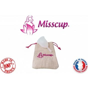 cup menstruelle MISSCUP® petite taille fabrication 100% française avec pochette et notice offerte