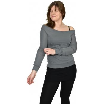 T-shirt femme manches longues col DANSEUSE en pure laine mérinos
