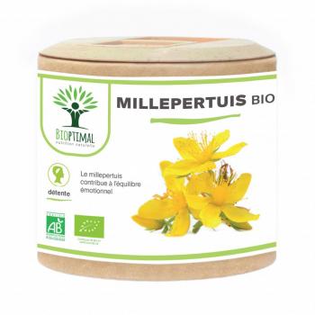 Millepertuis bio - Complément Alimentaire - Cure 1 mois - BIOPTIMAL - 60 gélules