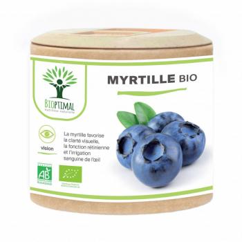 Myrtille bio - Clarté visuelle - Vision - Yeux - Fabriqué en France Certifié par Ecocert 60 Gélules
