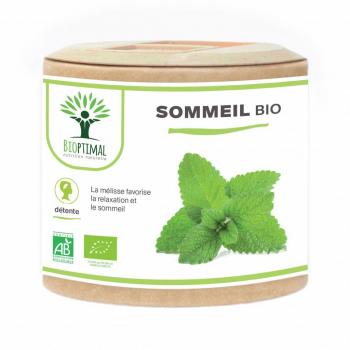 Sommeil - Bioptimal - Complément alimentaire - Remède pour mieux Dormir - 60 gélules