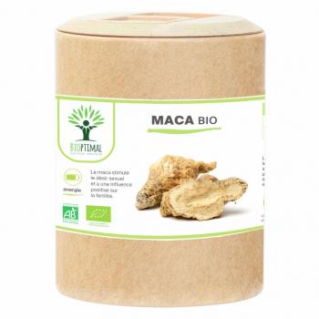 Maca Bio - Complément Alimentaire -  Energie - Fertilité - Aphrodisiaque - BIOPTIMAL - 200 gélules