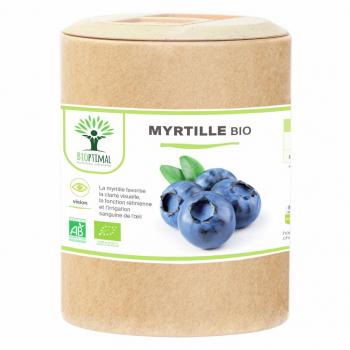 Myrtille bio - Clarté visuelle - Vision - Yeux - Fabriqué en France Certifié par Ecocert 200 Gélules