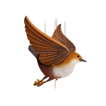 moineau - mobile bois oiseau équitable