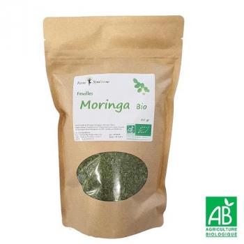 Feuille de Moringa BIO - 80 gr - Tisane - thé - Vitamine - Fer - Calcium