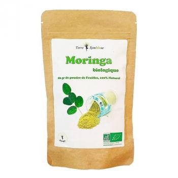 Moringa BIO - Sachet 80g - Poudre de feuille Biologique - Santé - Energie