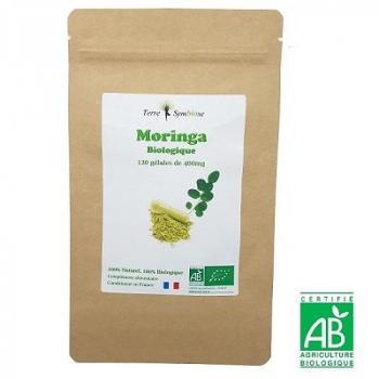 Moringa BIO - 120 gélules de 400 mg Biologique - Fer - Calcium - Vitamine