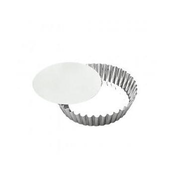 Moule à manqué rond en fer blanc avec fond amovible