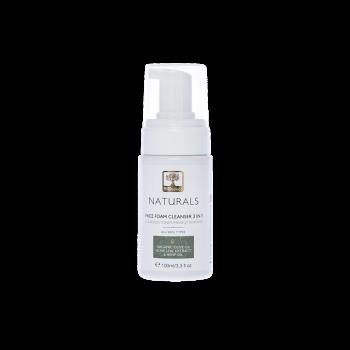 Mousse nettoyante naturelle pour le visage, le cou et les yeux - 100ml