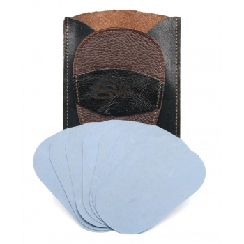 Gant d'exfoliation et d'épilation Kit Bicolore Marron/NOIR