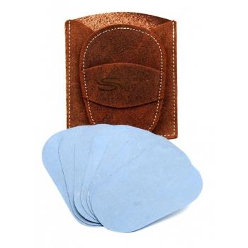 Gant d'exfoliation et d'épilation Kit Marron Uni (cuir retourné)