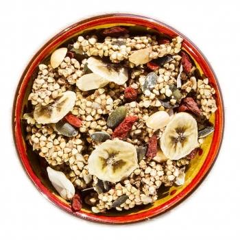 Muesli croustillant Bio du Sportif (Granola)  avec de véritables morceaux de fruits séchés 1kg - sans gluten