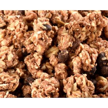 JUSTEBIO - Muesli Chocolat Noir - Lot de 2 sachets de 2kg