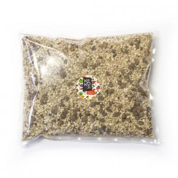 Muesli flocon Bio KoKoji Cacao Noisette - 1Kg - Avoine sans gluten - Sans sucre ni matière grasse ajoutés - Vegan