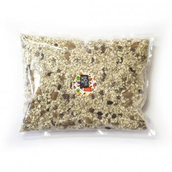 Muesli flocon Bio KoKoji Energie multi-graines : tournesol, courge, chia - 1Kg vrac - Avoine sans gluten - Sans sucre ni matière grasse ajoutés - Vegan
