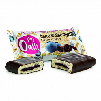 Lot de 17+3 Barres Avoine-Myrtille enrobée de chocolat Bio 50g - My Oath