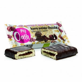 Barre Avoine-Chocolat enrobée de chocolat Bio 50g - My Oath