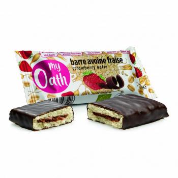 Barre Avoine-Fraise enrobée de chocolat Bio 50g - My Oath
