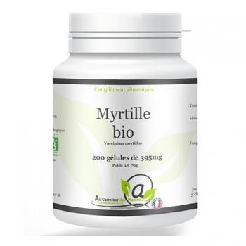 Myrtille bio 200 gélules de 395mg
