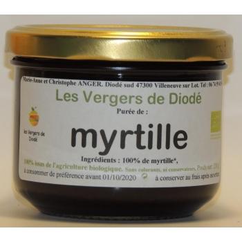 Purée de myrtille
