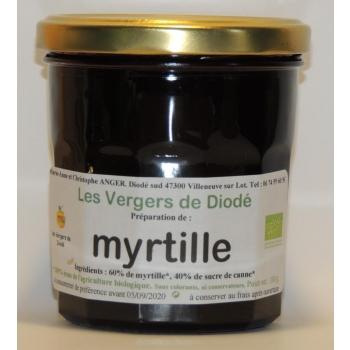 myrtille et sucre de canne