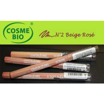 Crayon Bio Contour des Lèvres N° 2 Beige Rosé