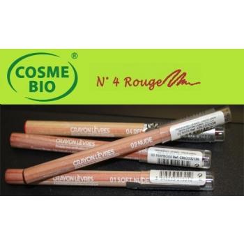 Crayon Bio Contour des Lèvres N° 4 Rouge