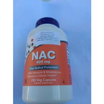 NAC, 600 mg, 250 capsules végétales