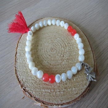 Bracelet en Nacre et Cornaline