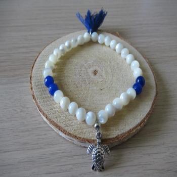 Bracelet en Nacre et Lapis lazuli