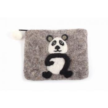 "Porte-monnaie ""panda"" en feutrine"