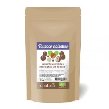 Onaturo NOISETTES enrobées de chocolat au lait coco 100% vegetal BIO 145g #VEGAN