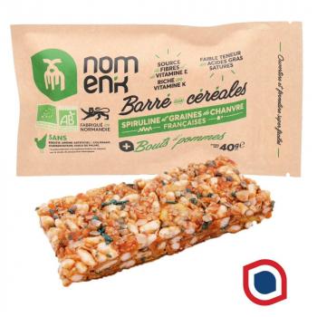 Nomenk_barre_cereales_pomme_bio_spiruline_chanvre