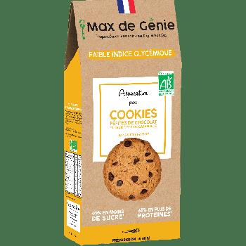 Préparation pour cookies pépites de chocolat et sa note de cacahuète
