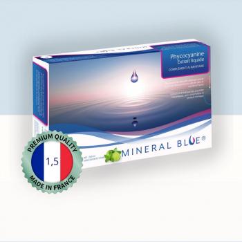 Phycocyanine - Extrait Liquide de Spiruline - 1,5 g/l - 500 ml - Menthe Citron Vert