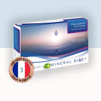 Phycocyanine - Extrait Liquide de Spiruline - 3 g/l - 500 ml - Menthe Citron Vert