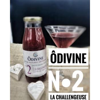 ÔDIVINE N°2 – La Challengeuse (Kéfir Gingembre & Hibiscus) – 500 ml