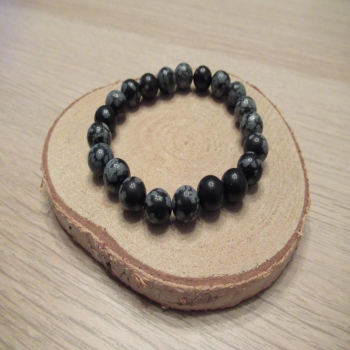 Bracelet en Obsidienne mouchetée