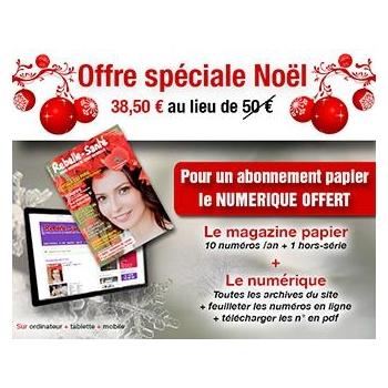 Offre spéciale Noël : Abonnement 1 an au magazine Rebelle-Santé + le Web offert