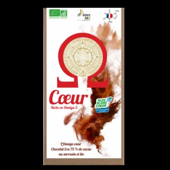 Tablette de chocolat cru Oméga COEUR