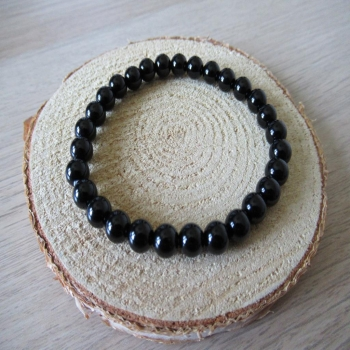 Bracelet en onyx noir 6mm