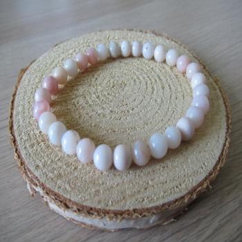 Bracelet en Opale rose 6mm