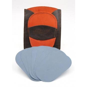 Gant d'exfoliation et d'épilation Kit Bicolore Orange/Marron