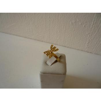 Bague plaqué or règlable symbole de la liberté et de l'encrage