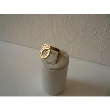 Bague plaqué or règlable symbole de l'optimime et de la confiance en soi