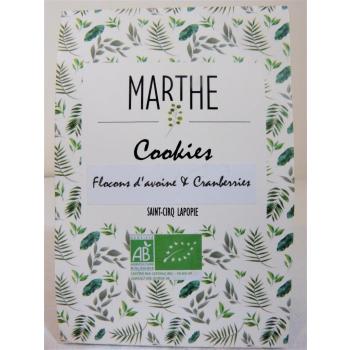 Cookies Bio Flocons d'avoine Cranberries 150g
